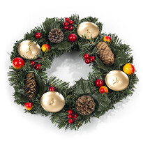 Vianočný veniec so šiškami a bobuľami pr. 30 cm