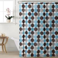 Sprchový závěs Puntík modrá, 180 x 180 cm