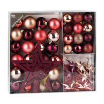 Vianočné ozdoby set Luxury Maroon
