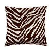 Polštářek Leona zebra hnědá, 45 x 45 cm