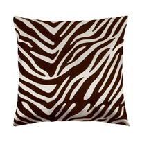 Vankúšik Leona zebra hnedá, 45 x 45 cm