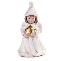 Vianočná dekorácia anjelik s hviezdou