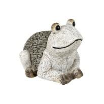 Záhradná dekorácia Žaba, sivá