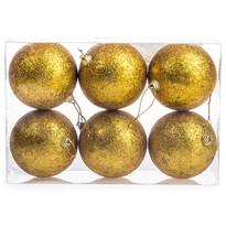 Vianočné gule 6 ks, zlatá