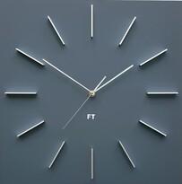 Future Time FT1010GY Square grey Designerski zegar ścienny, 40 cm