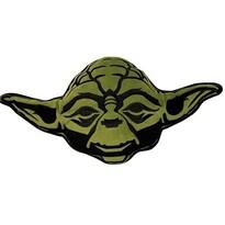 Tvarovaný vankúšik Star Wars Yoda, 35 x 33 cm