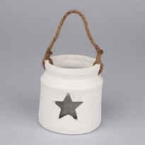 Sfeşnic ceramic cu sticlă, Stea, alb