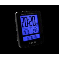 Digitální budík Lavvu Duo Black, 9,2 cm