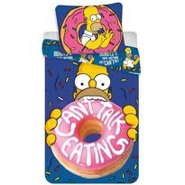 Dětské bavlněné povlečení Simpsons Homer donut, 140 x 200 cm, 70 x 90 cm