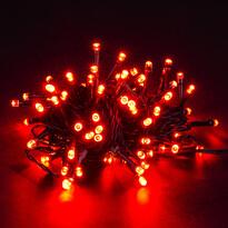 Vianočná svetelná reťaz, červená, 80 LED