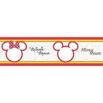 Mickey Mouse és  Minnie öntapadós bordűr tapéta , 500 x 14 cm