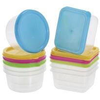 Sada plastových dóz s víky 65 ml, 8 ks, mix barev