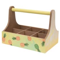Skrzynka do przenoszenia napojów Wood, ananas