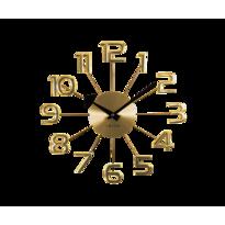 Nástěnné hodiny Lavvu Design Numerals zlatá, pr. 37 cm