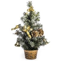 Vianočný stromček ozdobený v. 30 cm, zlatá