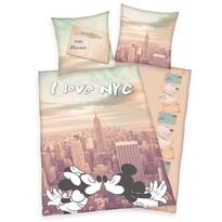 Bavlnené obliečky Mickey a Minnie I love NYC, 140 x 200 cm, 70 x 90 cm