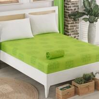Cearşaf jersey Sedef, verde, 90 x 200 cm