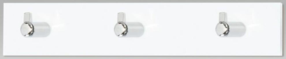Wieszak ścienny 3 haczyki, biały akryl