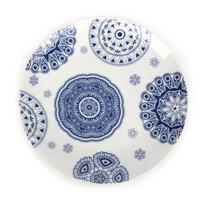 Dezertný tanier Blue Laces 20 cm, biela