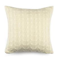 Povlak na polštářek pletený Uno krémová, 45 x 45 cm