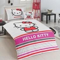 Matějovský márkájú Hello Kitty Stripe pamut ágynemű, 140 x 200 cm, 70 x 90 cm