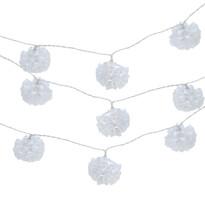 Svetelná LED reťaz biele kvety