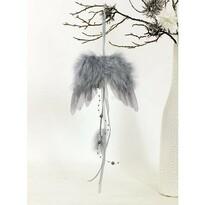 Sada vianočných ozdôb Anjelske krídla sivá, 6 ks