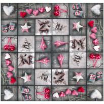 Faţă de masă de Crăciun Decoraţiuni, patchwork, 85 x 85 cm