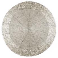 Prostírání z korálků Bead stříbrná, 30 cm