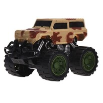 Monster truck hnědá, 13 cm