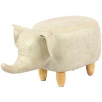 Elefánt zsámoly, bézs