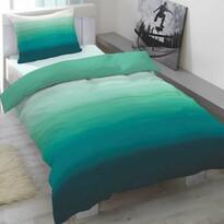 Pościel satynowa Balayage zielony, 140 x 200 cm, 70 x 90 cm