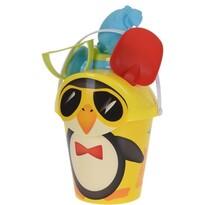 Set jucării de plajă Pinguinul, galben, 6 buc.