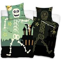 Bavlnené obliečky Halloween Kostlivec, 140 x 200 cm, 70 x 80 cm