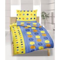 Flanelové obliečky Kolesá modrá, 140 x 200 cm, 70 x 90 cm