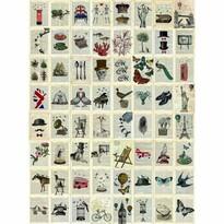 Kreatívna koláž Pages, 64 dielov