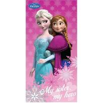 Ręcznik kąpielowy Kraina lodu Frozen Sister hero, 70 x 140 cm