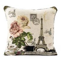 Poszewka na pod.-jasiek Gobelin Rose Eiffel, 45 x 45 cm, beżowy