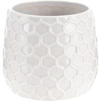 Keramický kvetináč Honey, biela