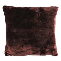 Polštářek Mikroplyš tmavě hnědá, 40 x 40 cm