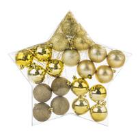Vianočné gule zlatá, 20 ks