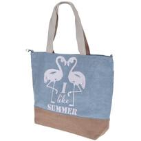 Geantă de plajă Flamingo, albastru deschis