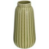 Wazon porcelanowy Knit jasnozielony, 24,5 cm