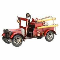 Dekoracja model samochodu Fire truck, czerwony