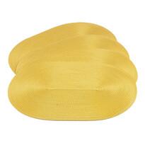 Prostírání Deco ovál žlutá, 30 x 45 cm, sada 4 ks