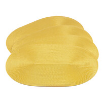 Suport farfurie Deco, oval, galben, 30 x 45 cm, set 4 buc.