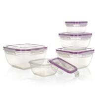 Banquet Komplet plastikowych pojemników do żywności, 5 szt., fioletowy