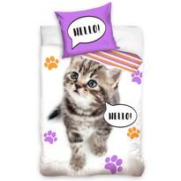 Bavlnené obliečky Mačka strakatá, 140 x 200 cm, 70 x 90 cm