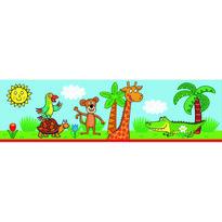 Samolepicí bordura Žirafa, 500 x 14 cm