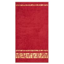 Prosop Bamboo Gold roșu, 50 x 90 cm
